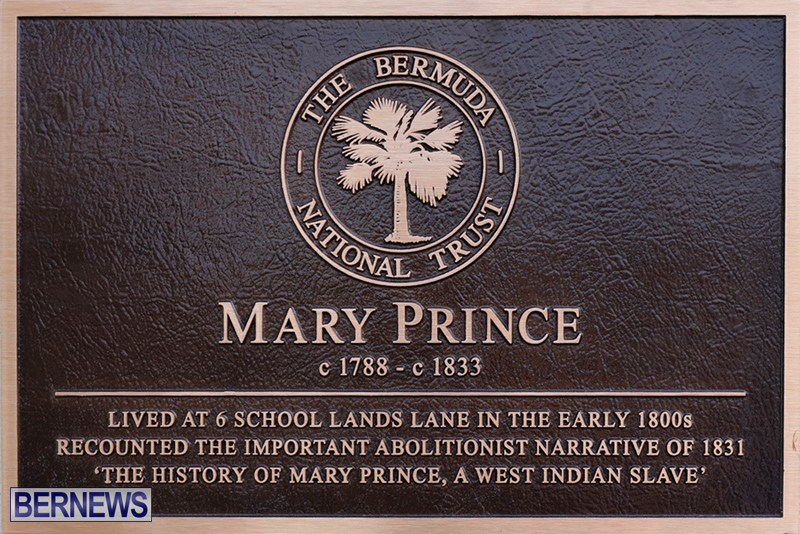 Mary Prince Plaque Bermuda Feb 7 2018 34534