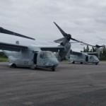Military aircraft landing at Bermuda airport Feb 28 2018 (2)