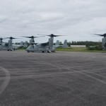 Military aircraft landing at Bermuda airport Feb 28 2018 (3)