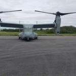 Military aircraft landing at Bermuda airport Feb 28 2018 (4)