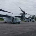 Military aircraft landing at Bermuda airport Feb 28 2018 TC