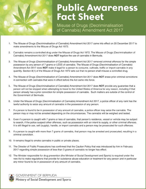 Public Awareness Fact Sheet Bermuda Feb 2018