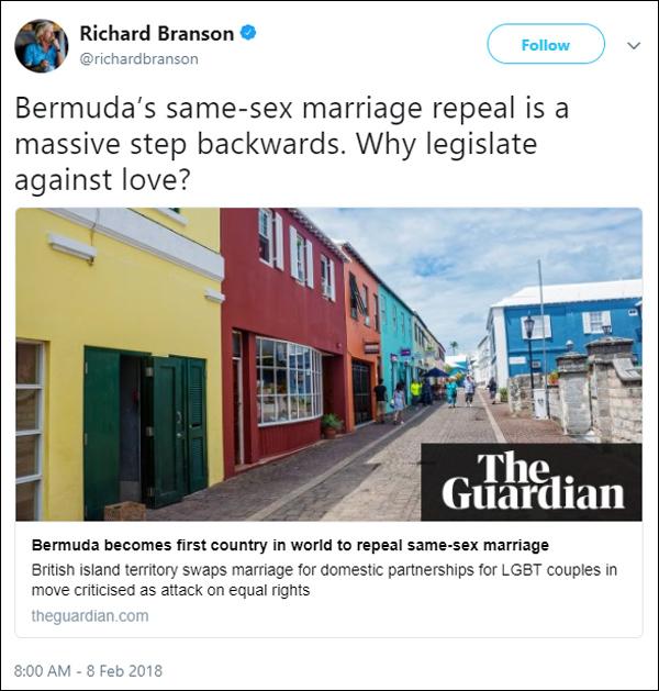 Richard Branson February 2018