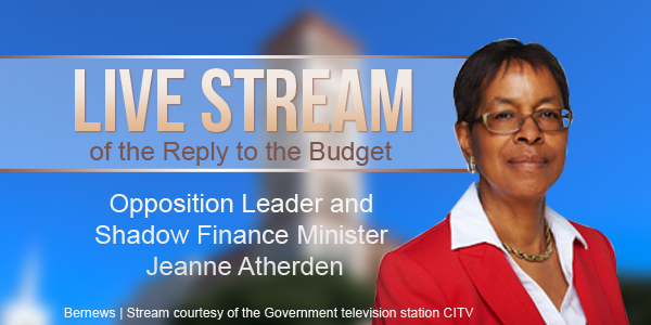 TC Live stream of the reply on budget by Opposition Leader and Shadow Finance Minister Jeanne Atherden