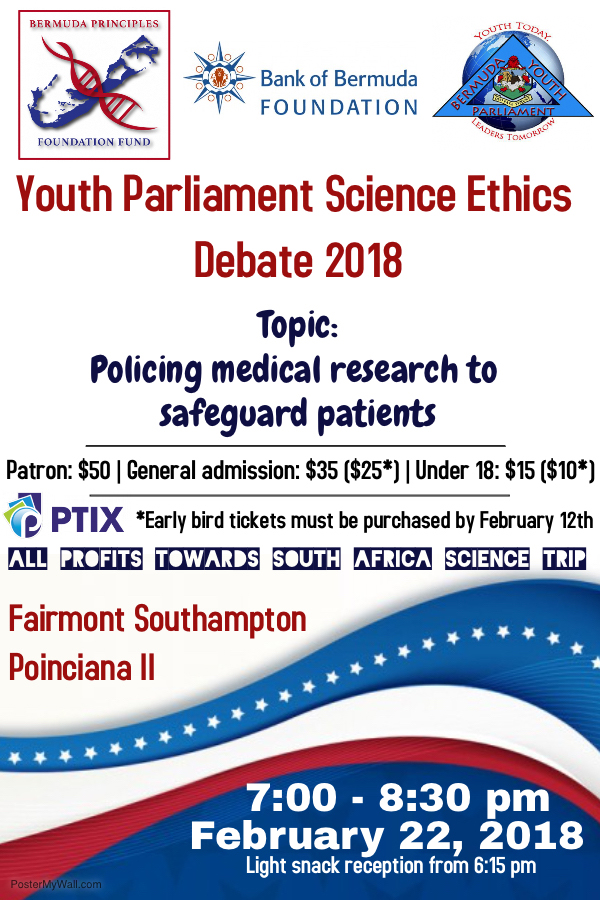 Youth Parliament Ethics Debate Bermuda Feb 2018