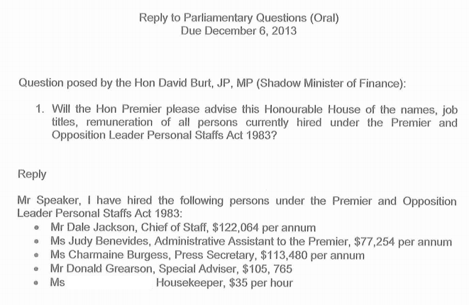 parl q, 1 name blocked by us