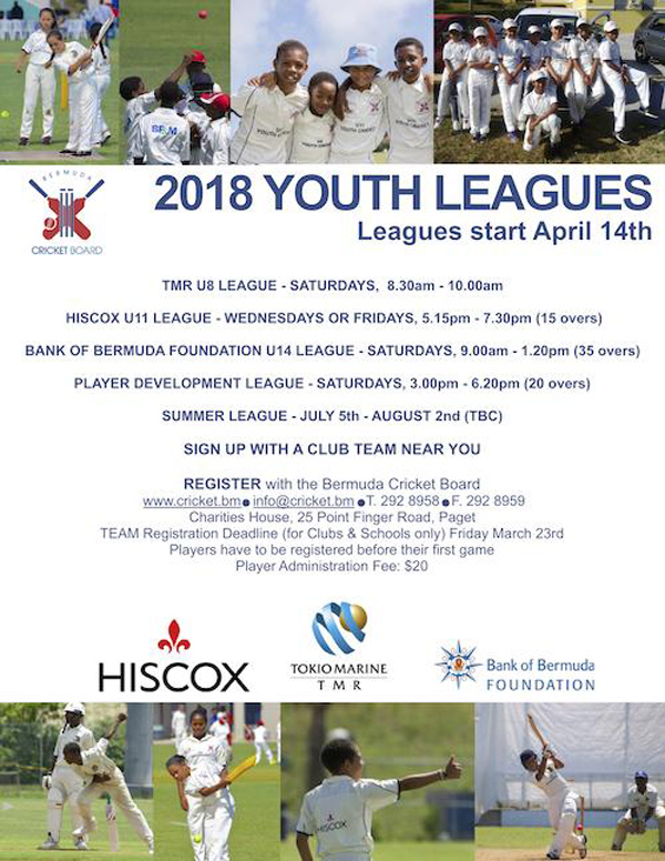BCB Youth League Bermuda March 2018