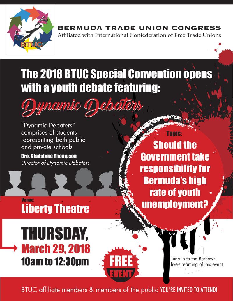 BTUC Youth Debate 2018 - flyer