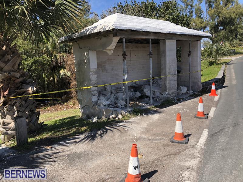 Damaged bus shelter Bermuda March 2018 (3)