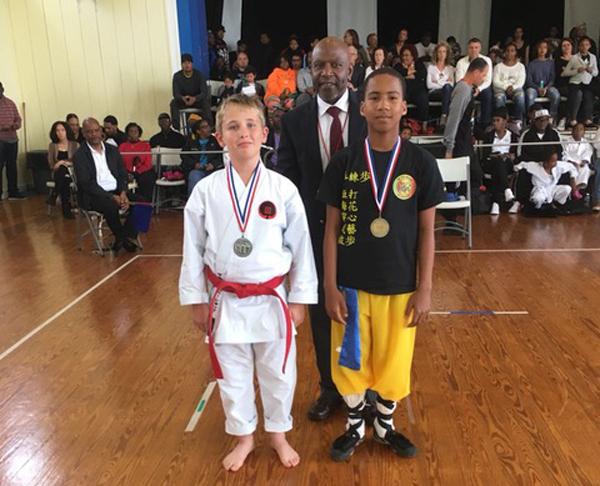 Junior advanced forms Zachary Bishop and Kentaro  Bean Bermuda March 4 2018