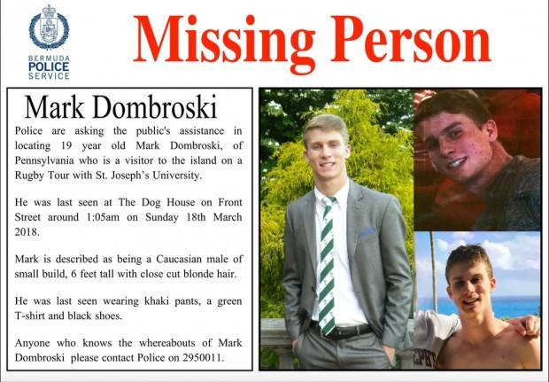 Missing Person Mark Dombroski Flyer final