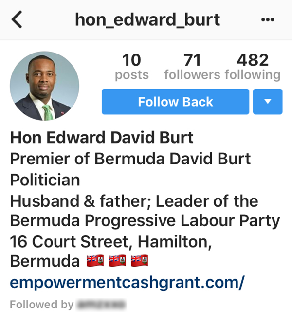 Premier Fake IG Bermuda March 18 2018 2