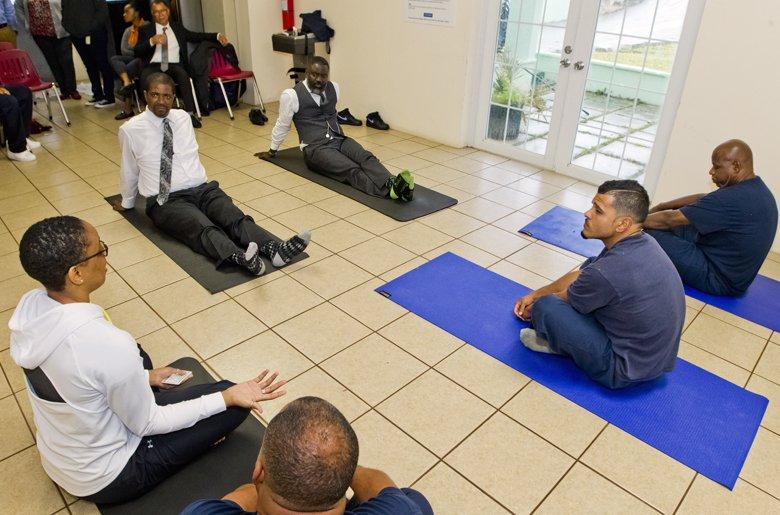 Prison Yoga Programme Bermuda March 2018 2
