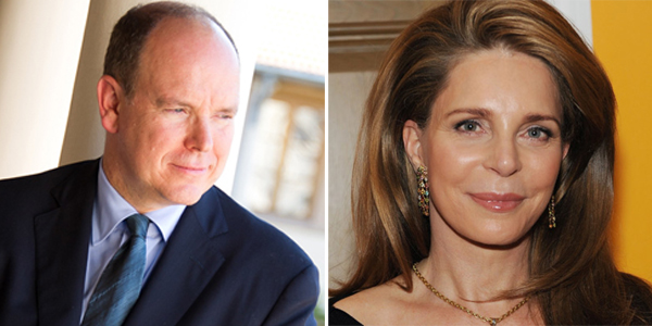 Queen Noor of Jordan &  Prince Albert II of Monaco Bermuda March 26 2018