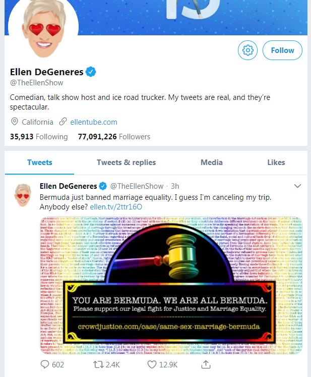 Tweets by Ellen DeGeneres