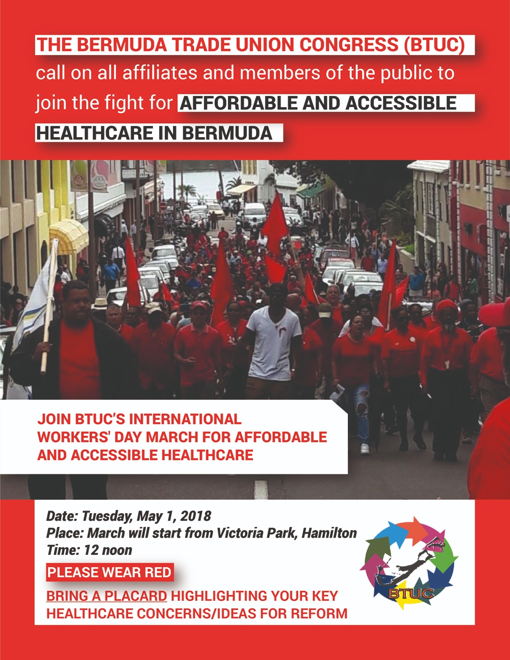 2018 BTUC - Intl Workers' Day Bermuda April 24 2018