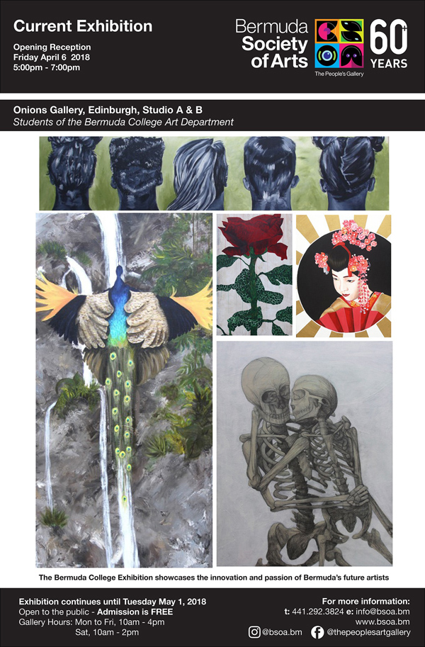 BSOA Bermuda College Art Exhibition April 2018