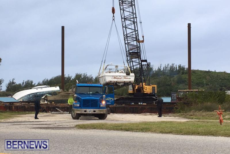 Boat Removal Bermuda, April 10 2018
