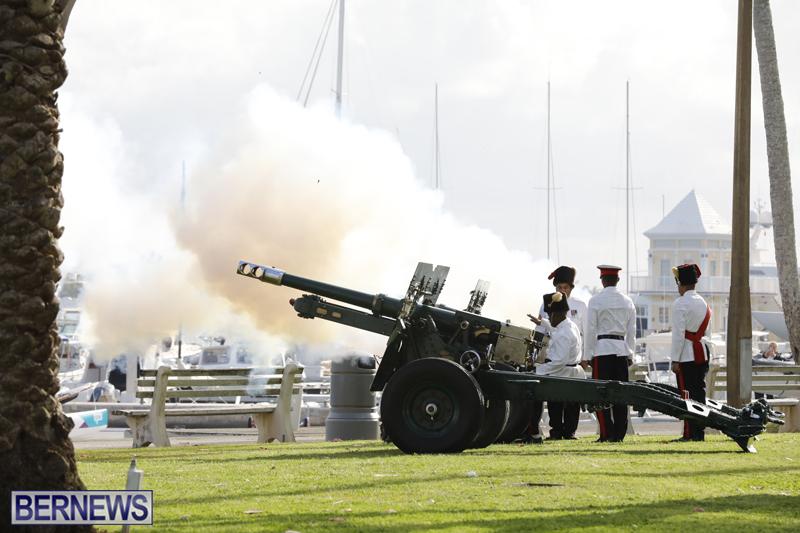 Gun Salute Celebrates New Royal Baby Bermuda April 24 2018 (2)