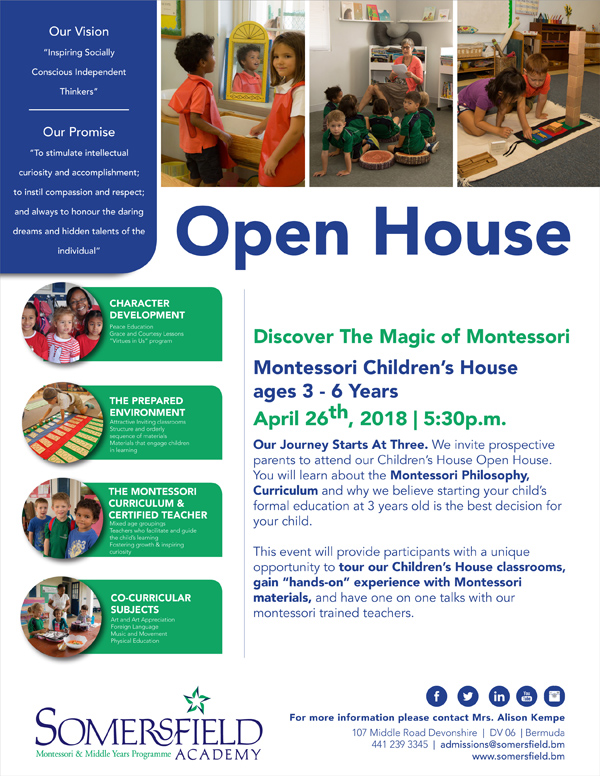 Somersfield Academy Open House Bermuda April 2018