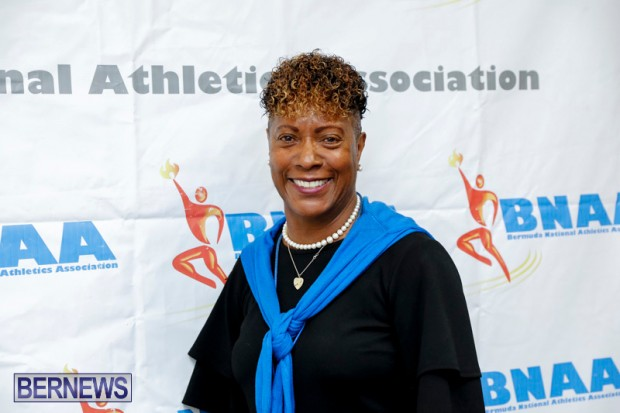 Bermuda National Athletics Association BNAA President Donna Raynor Permit Meet, May 5 2018-0717-1