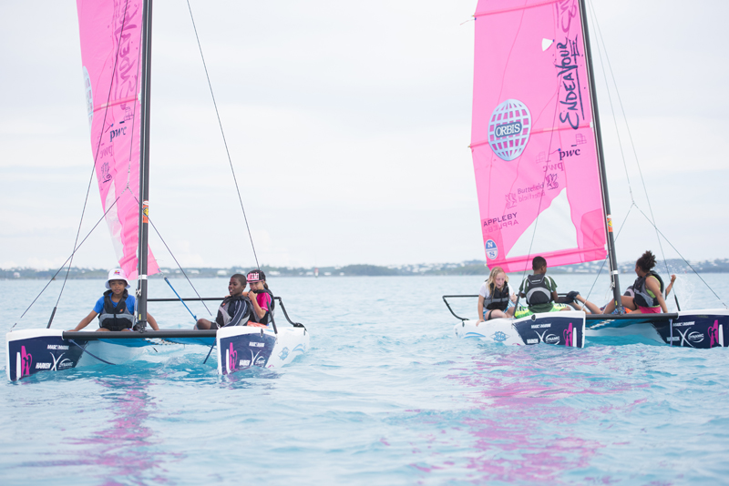 ORACLE TEAM USA training in Bermuda with the AC45S