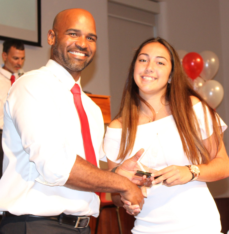 Coach's Award Football Lindsey Pacheco Bermuda June 2018
