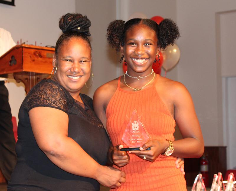 Coach's Award Netball Selah Tuzo Bermuda June 2018