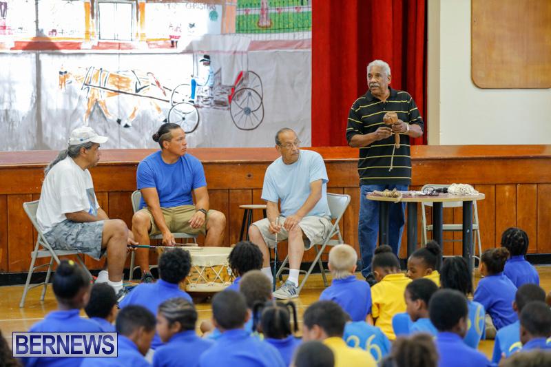 Pow Wow Native Drummers Visit St David's Primary School Bermuda, June 8 2018-9826