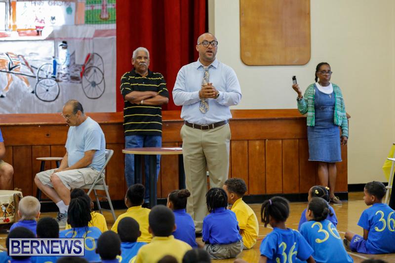 Pow Wow Native Drummers Visit St David's Primary School Bermuda, June 8 2018-9843