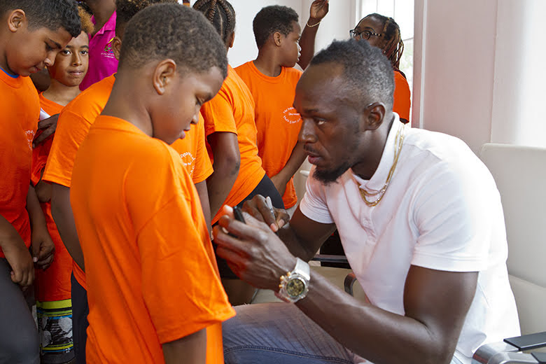 Premier Welcomes Usain Bolt To Cabinet Office Bermuda June 26 2018 (1)