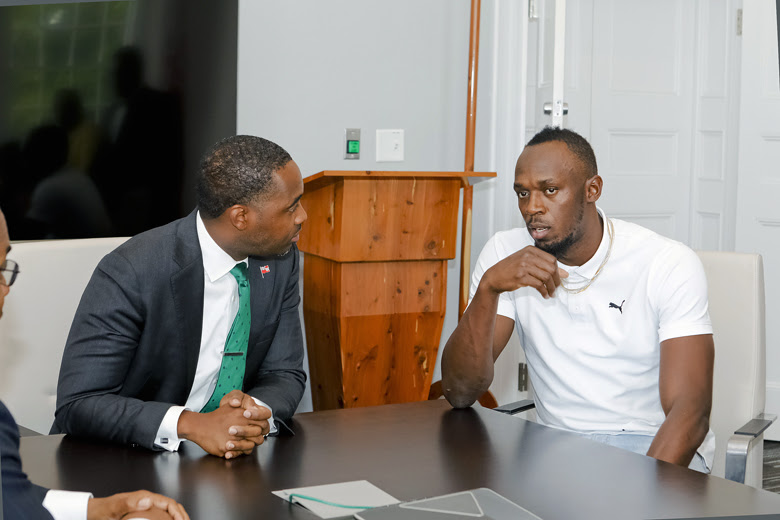 Premier Welcomes Usain Bolt To Cabinet Office Bermuda June 26 2018 (4)