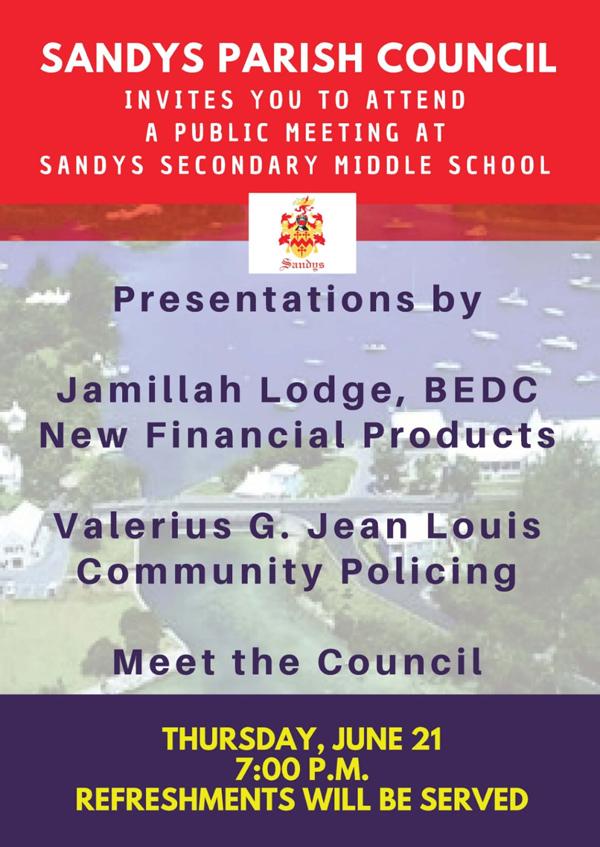 Sandys Parish Council Bermuda June 2018