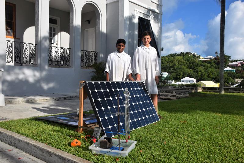 Themika Thennakoon and Maximo Deiros Bermuda June 2018