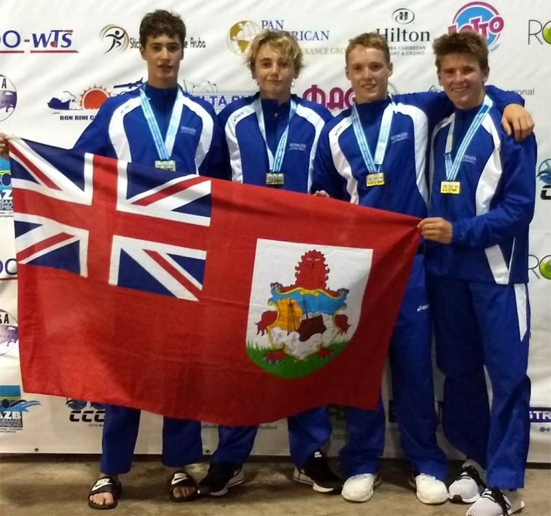 Boy's 4x100m Medley Relay Team Bermuda July 2018