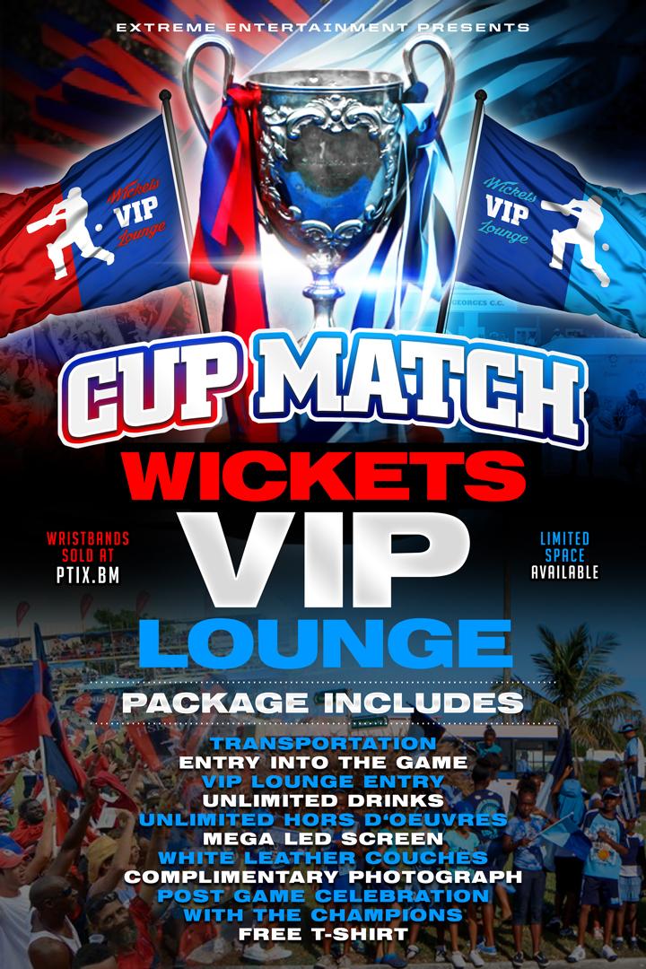 Cup Match Wickets VIP Lounge Bermuda July 11 2018