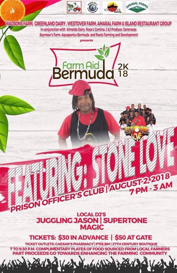 Farm Aid Bermuda July 2018
