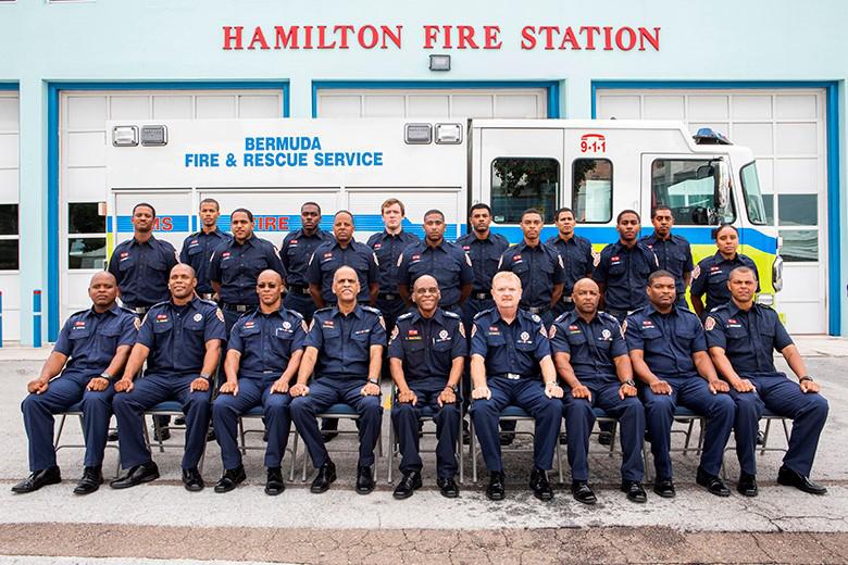 Fire Officers Bermuda July 2018