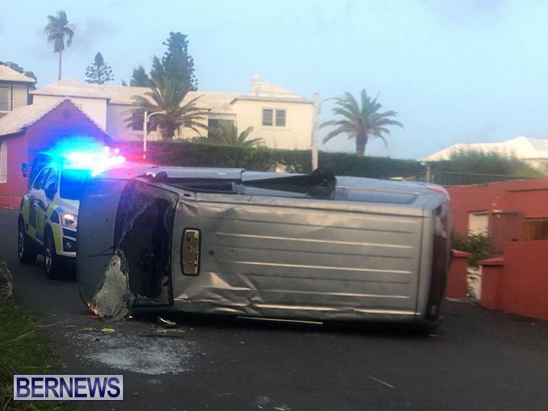 Overturned Vehicle Southampton Bermuda, July 18 2018