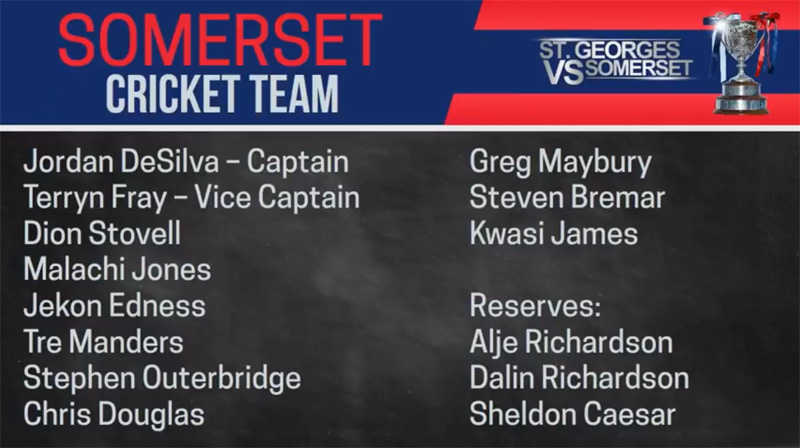 Somerset Cricket Team Bermuda July 2018