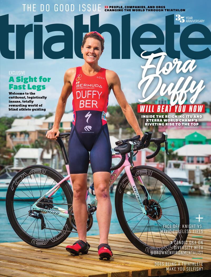 Triathlete Magazine Flora Duffy Cover Bermuda July 2018