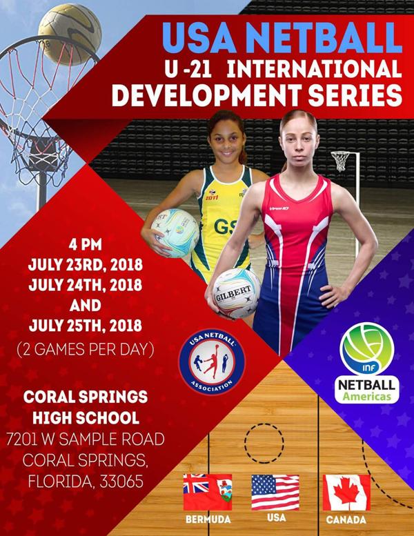 USA Netball U21 Tournament July 2018