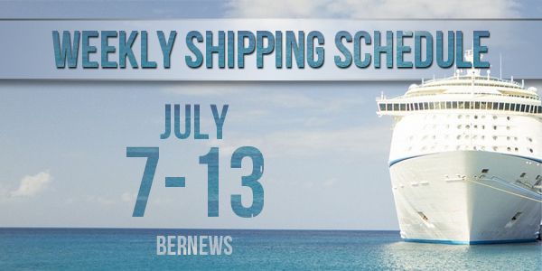 Weekly Shipping Schedule TC July 7-13 2018