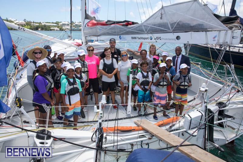 Youth Sailors Visit Hamburg Race Participants Bermuda, July 6 2018-0208