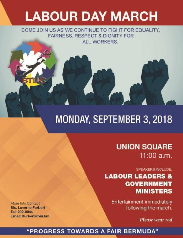 2018 BTUC - Labour Day March - POSTER