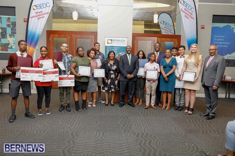 BEDC Student Entrepreneur Awards Bermuda (2) August 30 2018