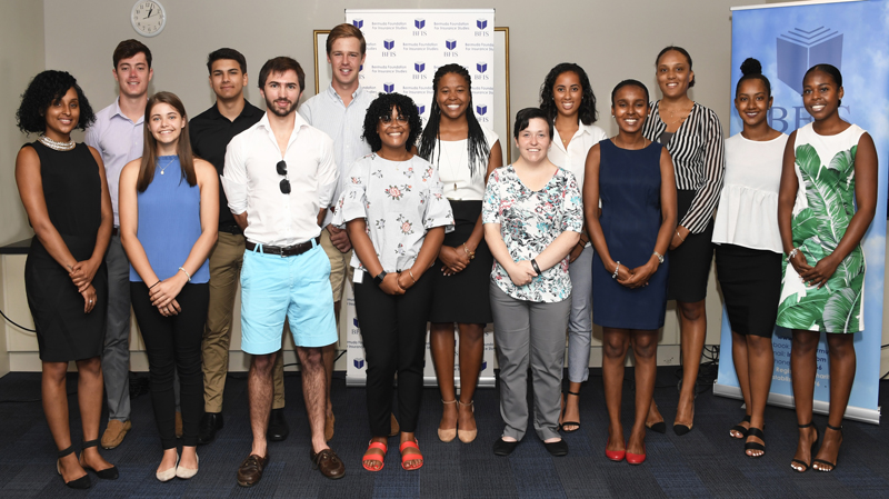 BFIS interns Bermuda July 2018