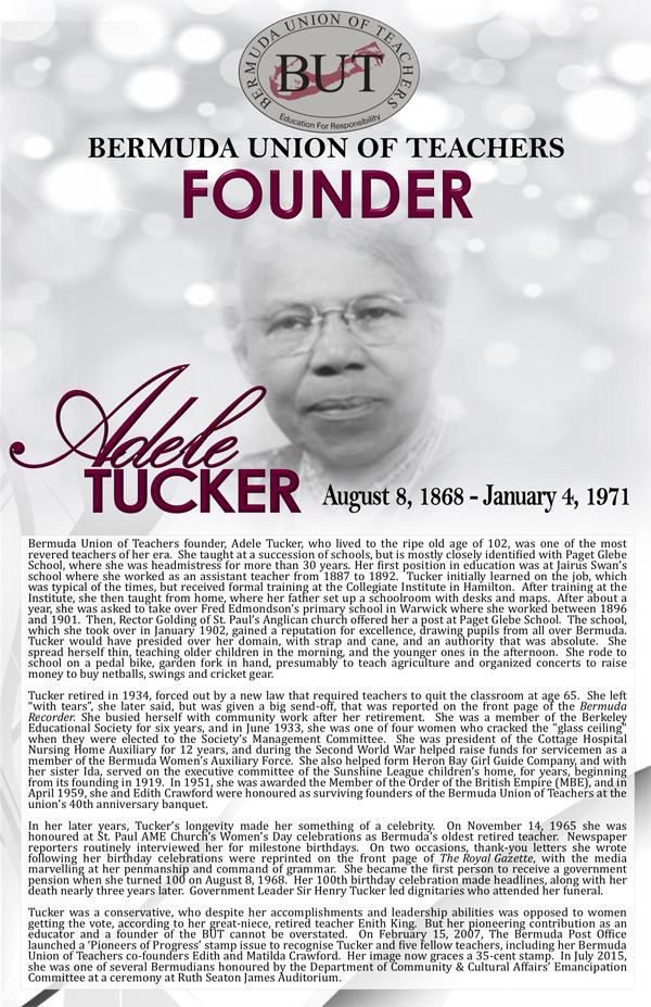 BUT Founders Adele Tucker Bermuda August 2018