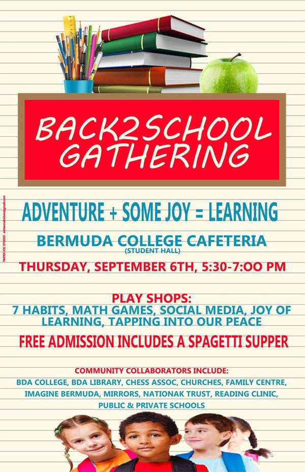 Back 2 School Gathering Bermuda August 2018