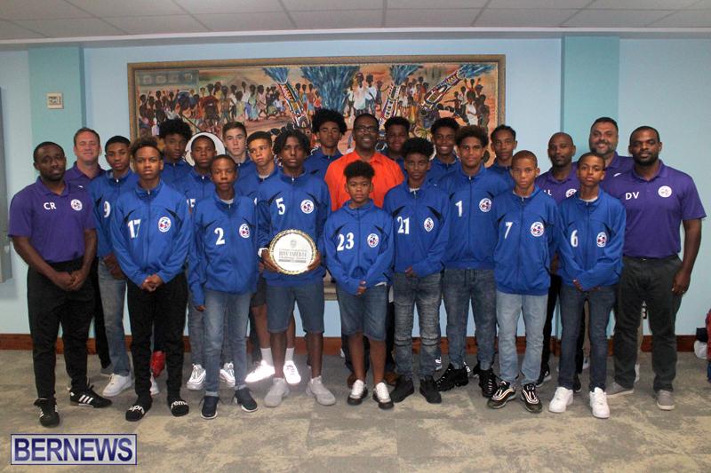 Bermuda U14 football team August 24 2018